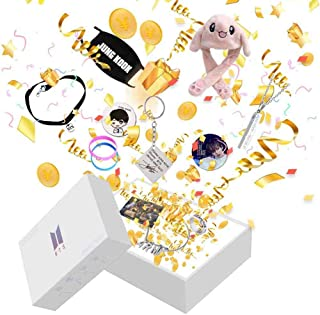 AIIVPO BTS Merchandise Gift Box Set Kpop Bangtan Boys BTS Album Premium Army Box Love Yourself Jungkook Jimin V with Necklace Keychain Stickers Mask Cards BTS Accessories (97 JUNG KOOK Box)