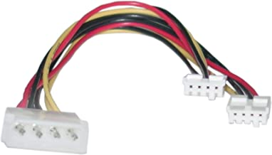 GadKo 4 Pin Molex to Floppy Power Y Cable, 5.25 inch Male to Dual 3.5 inch Female, 8 inch