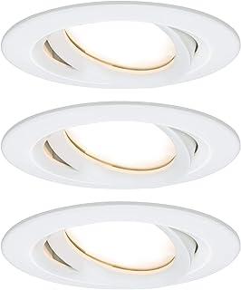 Paulmann 93682 Nova Plus LED oprawa do zabudowy, okrągła, wychylna, 3x6,8W, IP65, możliwość ściemniania, biały matowy, spo...