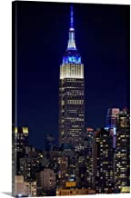 Empire State Building at Night Canvas Wall Art Print, 24