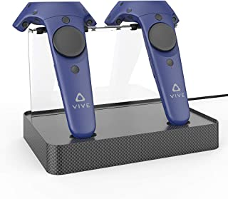 Dual Charger Magnetic Charging Station/Stand,Support Firmware Upgrade for HTC VIVE or Pro Controller (Carbon Fiber)