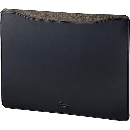 エレコム パソコンケース インナーバッグ MacBook Air, Pro 13inchモデル専用 【2020年11月発売 M1チップモデル対応】 スリーブ レザー ブラック BM-IBSVM1913BK