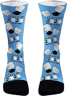 Calcetines de regalo de 2020 Calcetines de clase 2020 Calcetines de papel Calcetines de regalo de graduación divertidos para mujeres Hombres