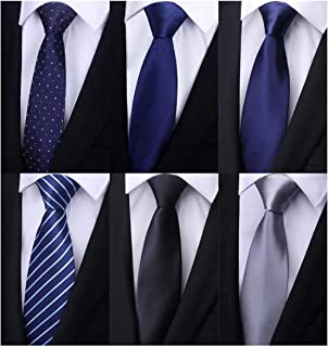 Weishang Pack of 6 Men's Classic Business Tie Silk Necktie Neck Ties