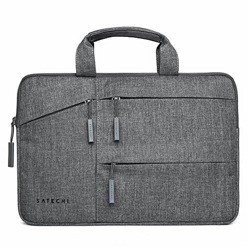 Satechi wasserfeste Laptop Tragetasche mit Seitentaschen kompatibel mit MacBook, Microsoft Surface Pro, Samsung Chromebook und mehr (13 Inch)