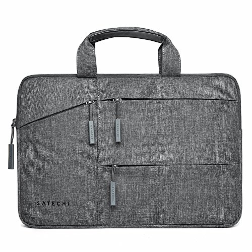 Satechi Water-Resistant Laptop Bag Carrying Case with Pockets - Compatible with 2016/2015 MacBook, MacBook Pro 13', Microsoft Surface Pro, Samsung Chromebook and More (13 Inch)