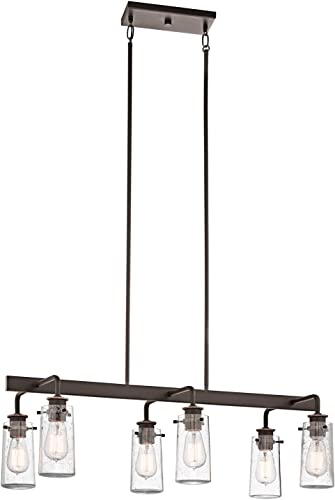wholesale Kichler sale 43059OZ Braelyn Linear Chandelier, 6-Light, Olde sale Bronze online sale
