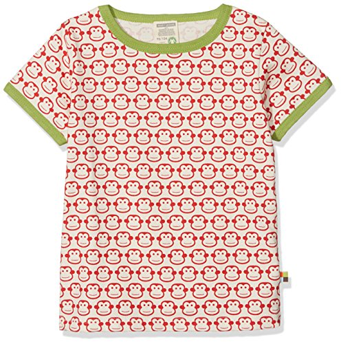 loud + proud Baby-Unisex, Druck T-Shirt, Rot (Tomato to), 104 (Herstellergröße: 98/104)