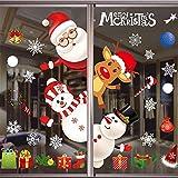 Santa Claus Autocollants,Noël Autocollants Fenetre Noël Stickers,NoëL Stickers Décoration DIY Fenêtres Stickers,Décoration DIY Fenêtres Stickers,Autocollant NoëL FenêTre
