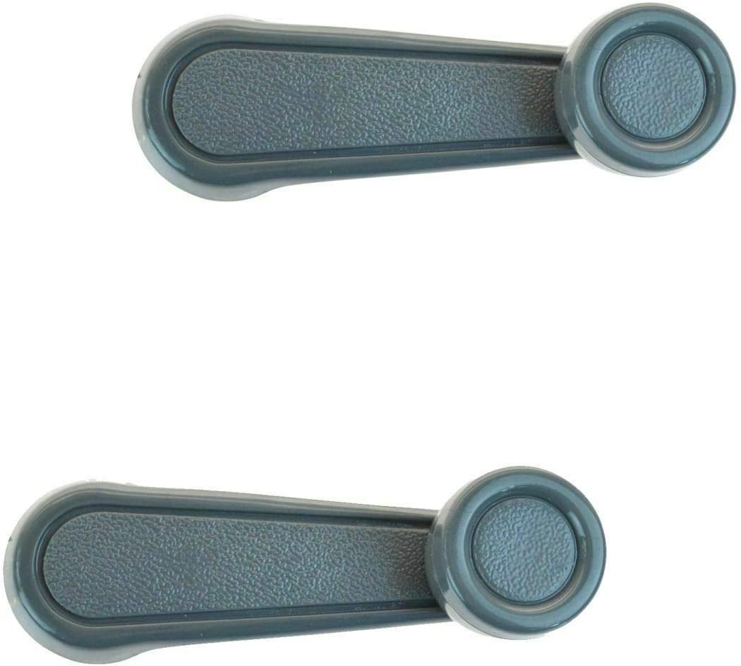 Manual Window Crank Gray Driver w Today's only Pair Compatible Passenger Product Side