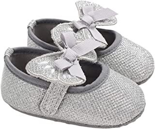 lakiolins Baby Girls Glitter Butterfly Bowknot Princess Dress Shoes Photography Crib Shoes