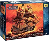 ZVEZDA 9037 - Captain's Jack Sparrow Ship 'BLACK PEARL' from Pirates of the Carrebean - Unpainted Plastic Model Kit - Scale 1:72 895 Parts Lenght 22' / 55 см