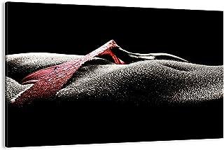 Impression sur toile - Image sur Toile - Un élément - Corps modèle féminin gouttelettes d'eau - 120x80cm - Decoration mura...