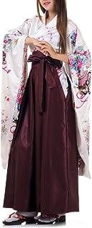 Princess of Asia Hochwertiges Japan Damen Geisha Samurai Kimono Outfit Kostüm S M 36 38 40