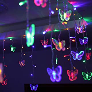 B bangcool 96 Butterfly LED String Lights, 11.5ft Waterproof Decorations Light Decor for Indoor/Outdoor Christmas, Birthday, Holiday, Valentine Wedding Decoration