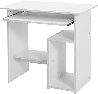 VASAGLE Bureau, Table Informatique, Table Avec Support Clavier Coullissant,  Montage Simple, Stable