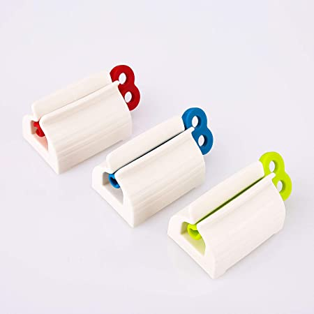 Toothpaste Squeezer Rolling Tube Squeeze Dispenser Toothpaste-Seat Holder T4W6