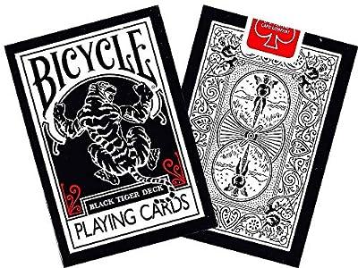 Vélo Noir Tiger Deck Cartes à jouer par Ellusionist–Rouge Pipp