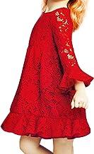IEFIEL Vestido de Princesa Boda Navidad Fiesta Vestido Invierno Otoño de Encaje para Niña Calidad Supeiror