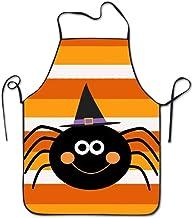 SPHGdiy Halloween Spider Cooking Apron Kitchen Apron For Women Men Chef