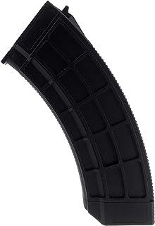 SportPro 130 Round Polymer Thermold Waffle Medium Capacity Magazine for AEG AK47 AK74 Airsoft - Black