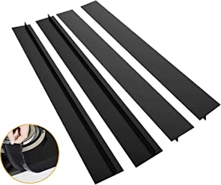 Home-Mart 4 Pack 21 inches Kitchen Silicone Stove Counter Gap Covers, Heat Resistant Oven Long Gap Filler Seals Gaps Betwe...