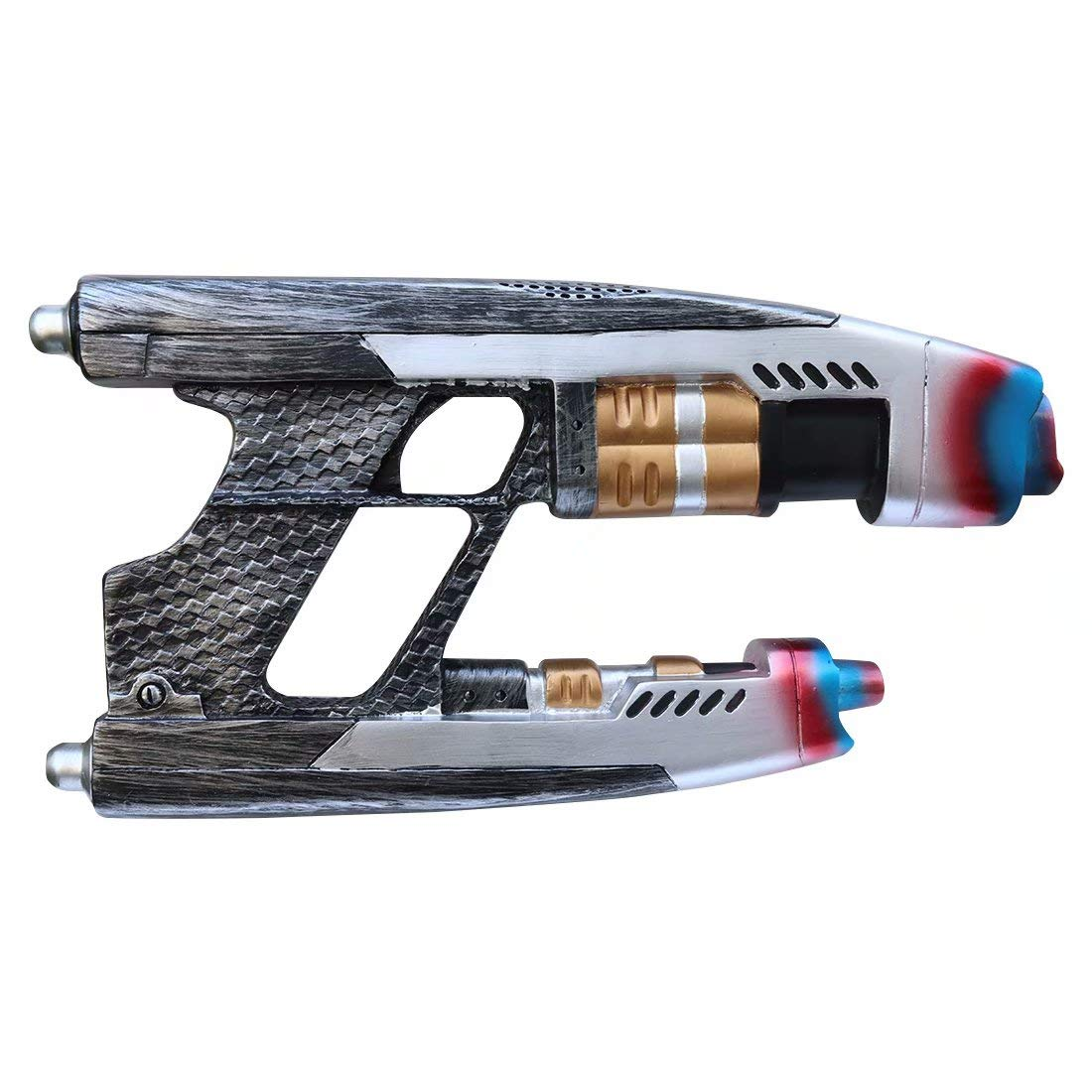 2Pcs Star Lord G#un Resin Blaster Replica Gun for The Galaxy Guardians Peter Quill Gun Weapon for Halloween Cosplay Men Women Girls Boys Kids Children (1 PCS, One Size)