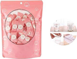 Wenlai Toalla Comprimida, Comprimido Portable Algodón Toalla de Limpieza Facial, Toalla Mágica Toallitas Máscara Papel Tis...