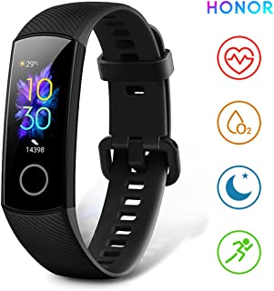 """HONOR Band 5 Fitness Trackers Activity Trackers 0.95"""" AMOLED Color Display Smart Watch Real-time Heart-rate Monitor Sleep Monitor 50M Depth Waterproof Bluetooth 4.2, Black"""