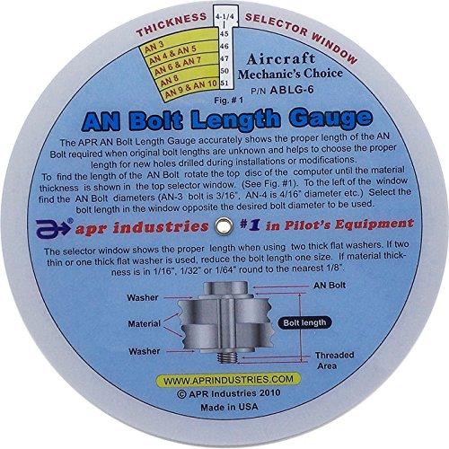 Una lunghezza bullone disco gauge (15,2cm)