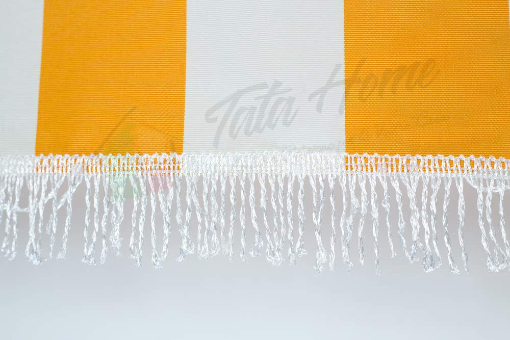 Tata Home - Toldo a rayas - Kit de ganchos y anillos - Material ...