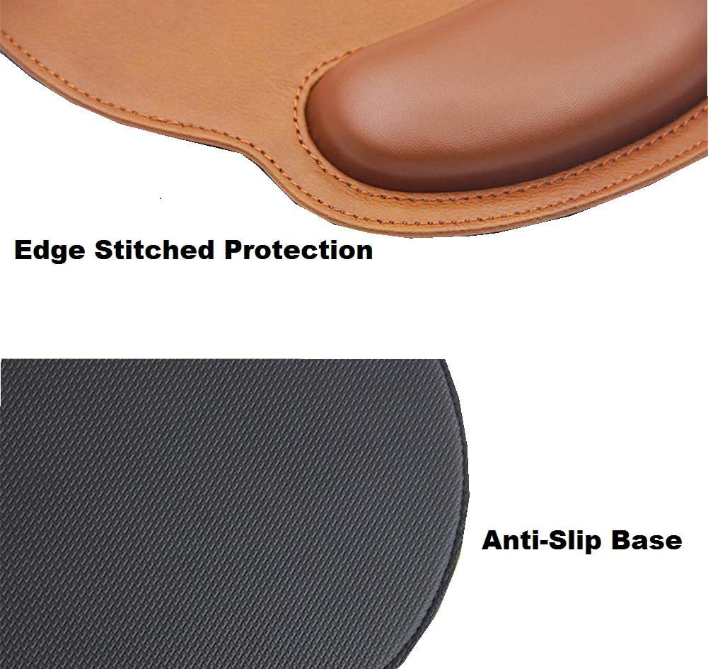 for Office Gaming Computer Laptop at Home//Work iColor Mouse Pad with Wrist Rest Nonslip Ergonomic Memory Foam Pain Relief Mousepad Desk Mat 9x10