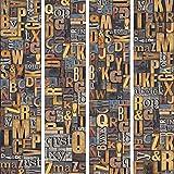 murando - PURO TAPETE - Realistische Tapete ohne Rapport und Versatz 10m Vlies Tapetenrolle Wandtapete modern design Fototapete - Buchstaben m-A-0192-j-b