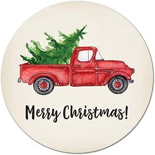 40 Rustic Retro Christmas Truck Merry Christmas Sticker