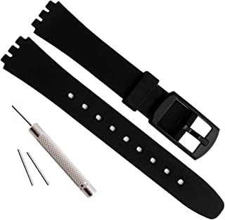 Replacement 12mm Waterproof Silicone Rubber Watch Strap Watch Band for Swatch