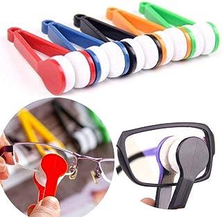 Deinbe De Dos Cristales Laterales Cepillo Limpiador de Microfibra Gafas Gafas de Limpieza Rub Limpiador Color