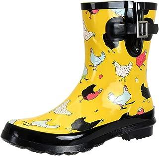 SheSole Women's Waterproof Rubber Gumboots Rain and Garden Boot