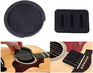 ギター サウンドホールカバー 穴径8.4cm& ギター用 弱音器 各1点 消音 夜間練習 サイレンサー ミュート