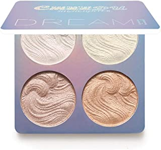4 Color Highlight Powder Palette,Bloodfin Professional