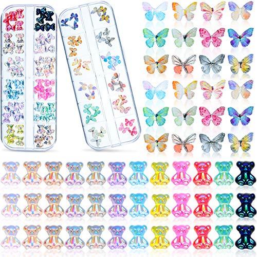 Set de 96 Encantos de Mariposa de Acrílico 3D y Decoraciones de...