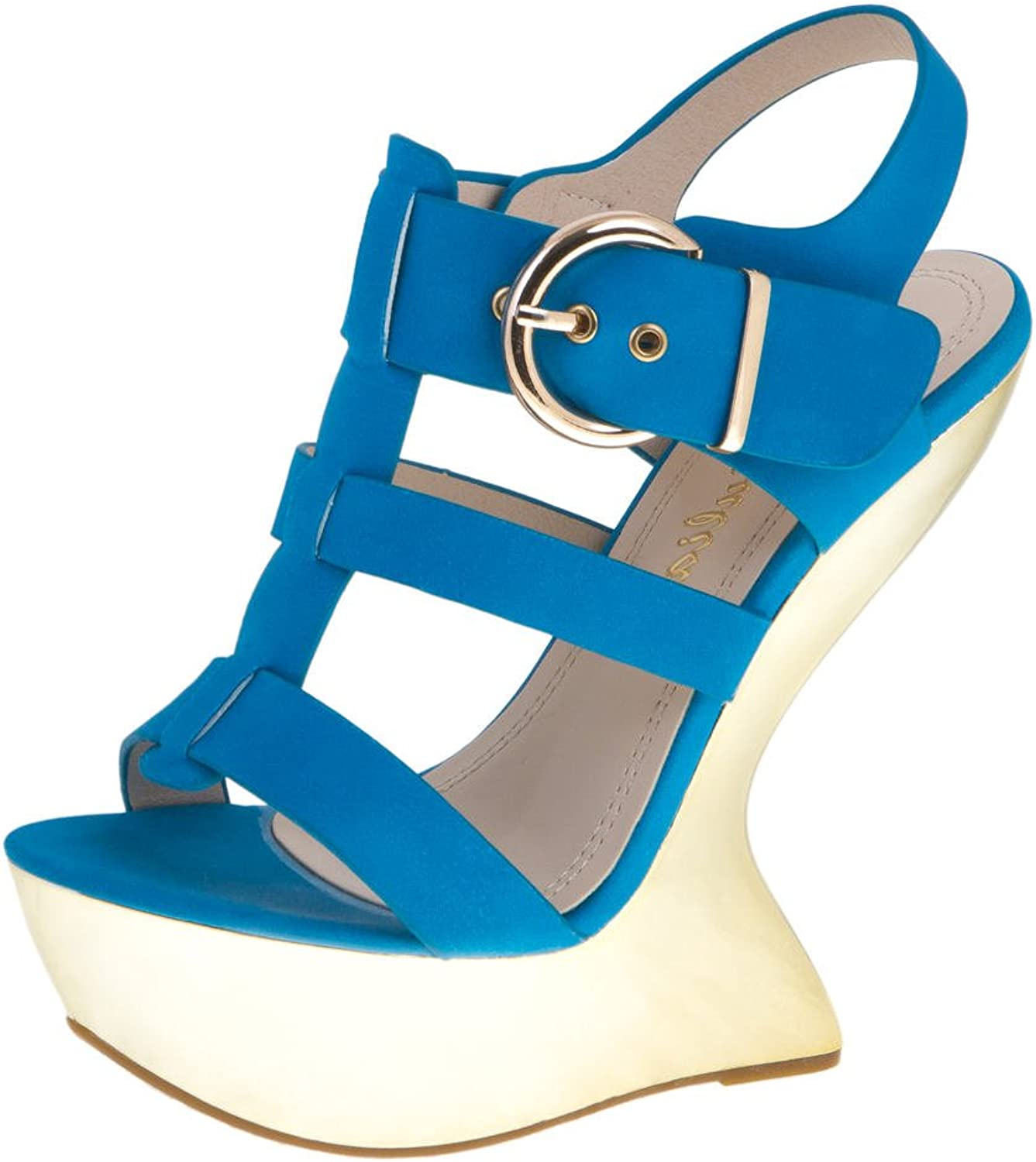 Via Giulia Women's Platform shoes Sexy Ladies Casual Summer Sandals Size 6, 7, 8, 9 US