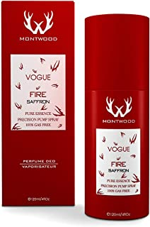 Vogue Fire Saffron Pure Essence Spray by Montwood - perfumes for women, 120 ml