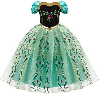 Disfraz de Anna Frozen de la Marca ObeII, para Princesa Elsa, Reina de la Nieve, para niñas, Cosplay, Navidad, Carnaval, Fiesta de cumpleaños, Pascua, Regalo para el día de los niños de 2 a 10 años