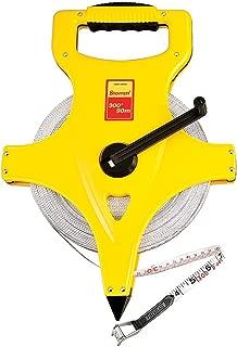 Starrett KTS537-300ME-N ABS Plastic Yellow Case Open Reel Fiberglass Long Tape, English/Metric Graduation Style, 300' (100m) Length, 0.5