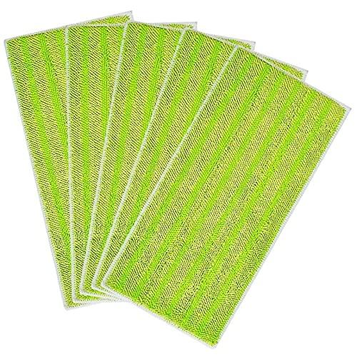 QJWGJA 5 Paquetes Resultados REUSTRADOS REUSIONES for REFILLOS DE MICROFIBRAS DE REEMPLAZO DE Jet HOJO SWIFFER for HOJO Y Seca (Color : Green)