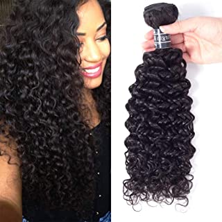 Amella Hair One Bundle Deal(18inch) Virgin Brazilian Curly Hair Weave 8A Unprocessed Brazilian Kinky Curly Virgin Hair Extensions,Natural Black Color,Can be Dyed and Bleached