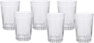 Royalford RF9682 6Pcs 230ml Glass Tumbler Portable Water Cup Drinking Glass Lead Free Dishwasher Safe Ideal for Party Picn...