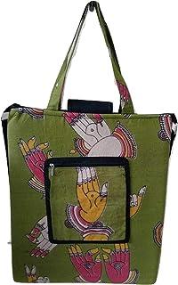 Vedik Jute Emporium Women's Laptop Bag (Sap Green)