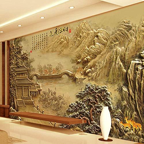 SADASD Mural Wandbild für Zuhause Wohnzimmer Schlafzimmer Dekor Imitation 3D Fensterbank Landschaft Bett kreative Wandaufkleber Home Dekoration Tapete-Wandbild-Nahtloses Ölgemälde Tuch