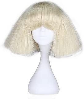 Miss U Hair Short Kinky Straight Wig Blonde Fashion Party Hair Wig (blonde) C090-A01